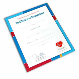 EFR Participant Certificate of Completion - First Aid Training Bangkok