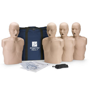 Prestan® Professional Adult CPR Manikin (Pack of 4) with Carry Bag - First Aid Training Bangkok