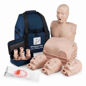 Prestan Professional Adult Ultralite CPR Training Manikins - 4-Pack with Carry Bag - First Aid Training Bangkok