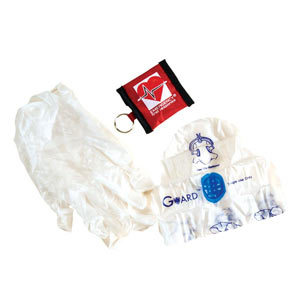 EFR Barrier Keyring (resuscitation mask & gloves) - First Aid Training Bangkok