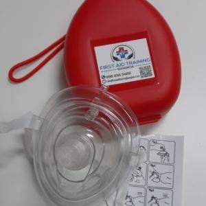 CPR หน้ากากกันสัมผัส พร้อมเคสแข็ง & พอร์ต O2 - First Aid Training Bangkok