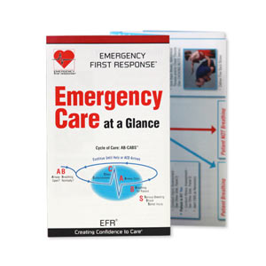 EFR Emergency Care at a Glance Card (Asia Pacific version) - First Aid Training Bangkok